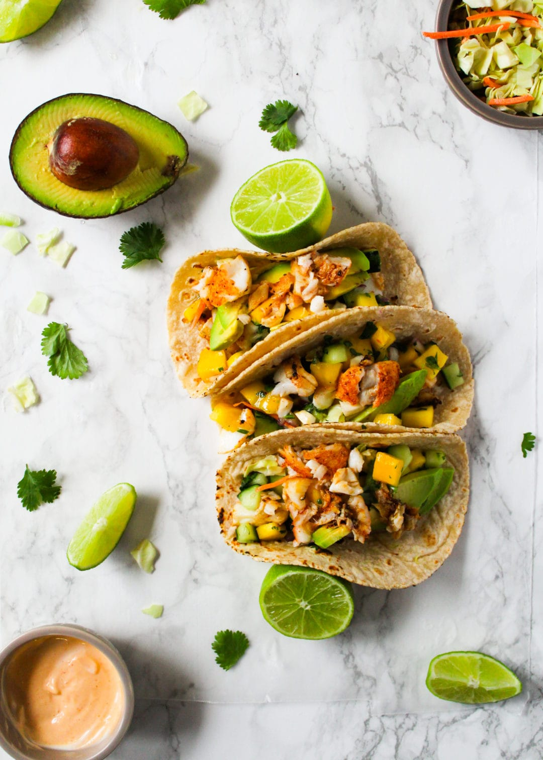 Fish tacos with cod and mango salsa cooking therapy for How to cook fish tacos