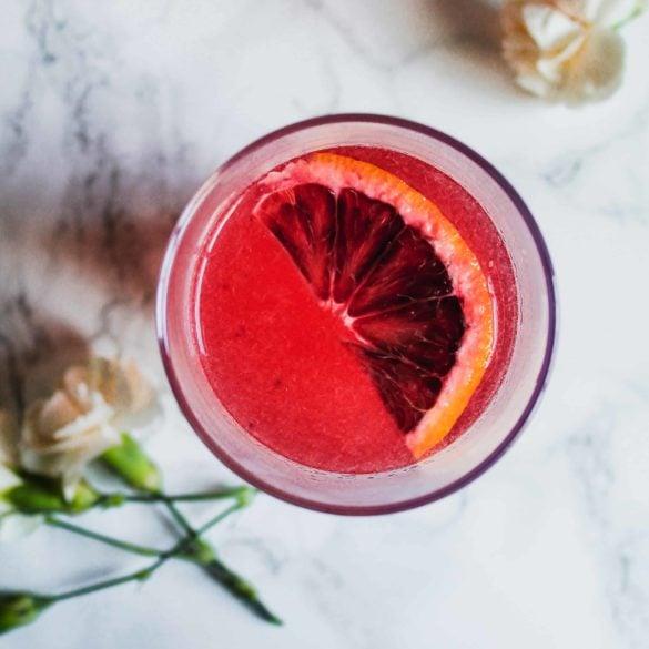 blood orange lemonade