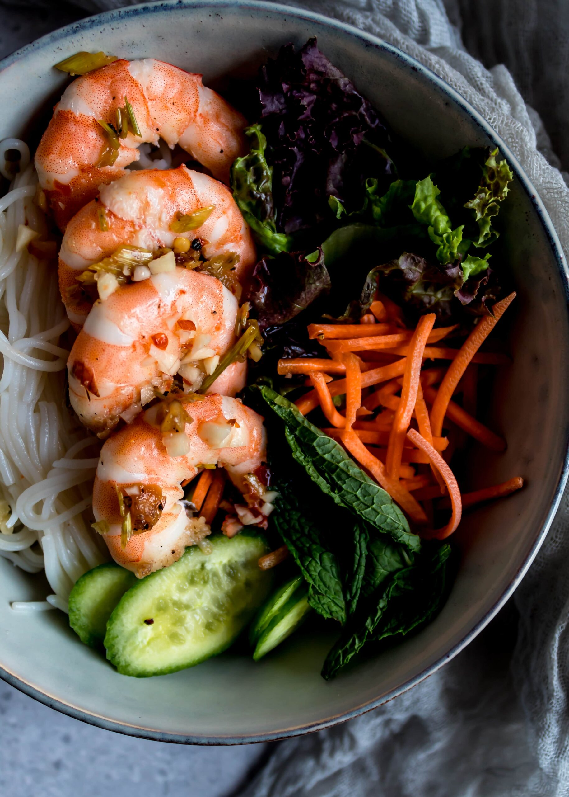 shrimp vermicelli bowls