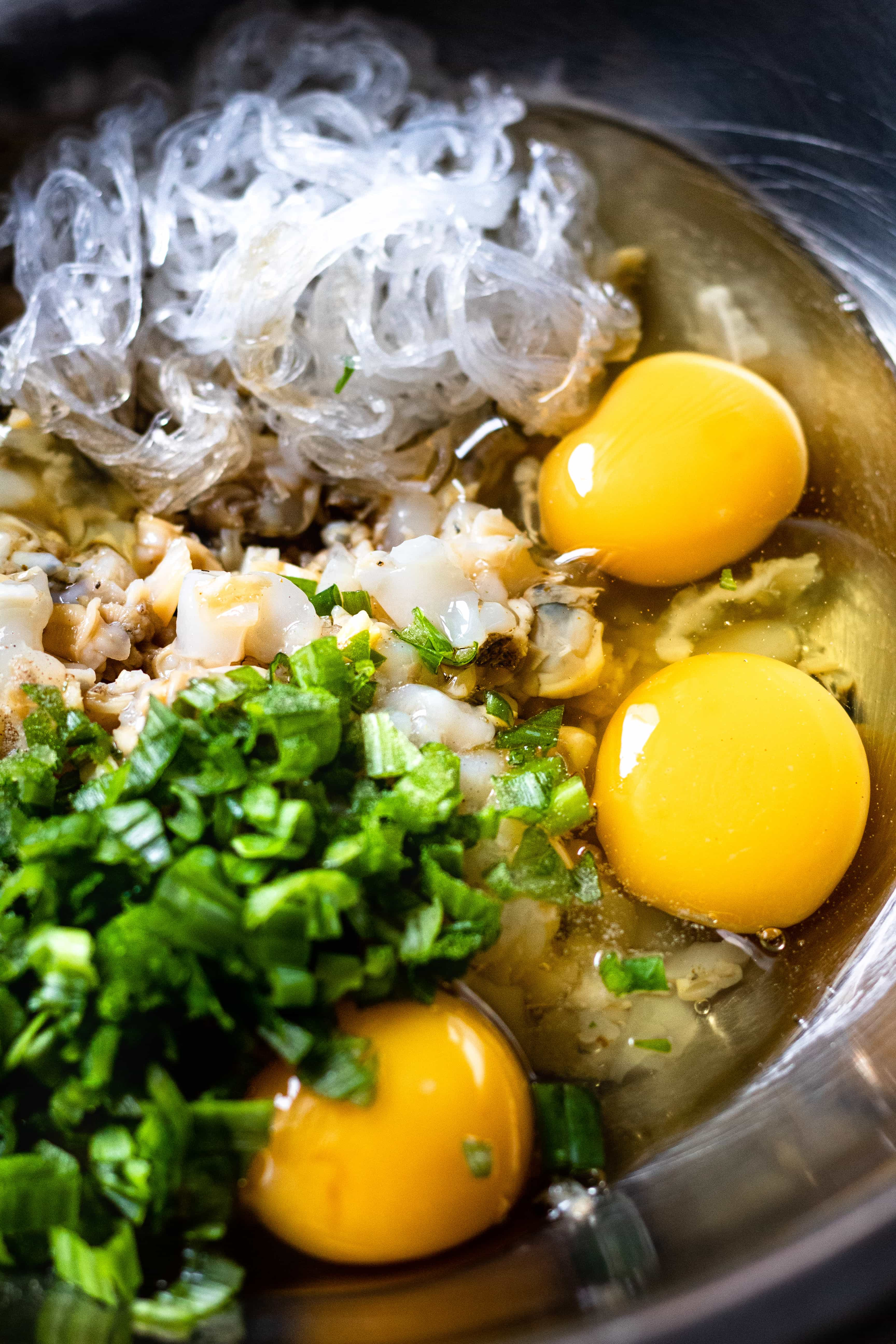 vietnamese seafood omelette