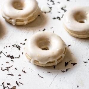 earl grey mochi donut