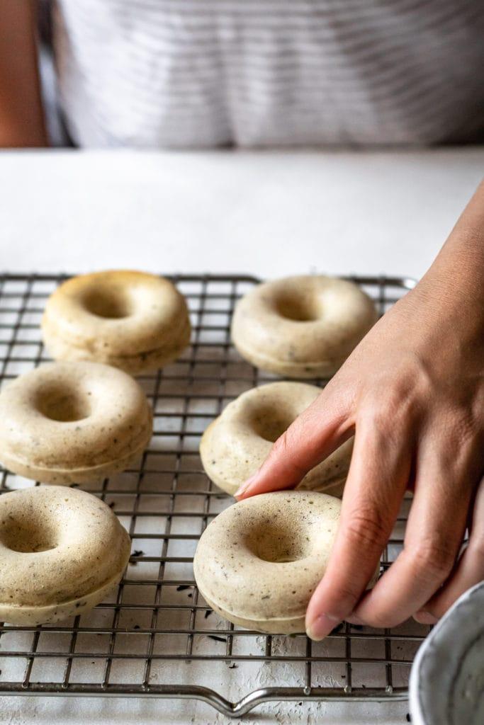 earl grey mochi donuts