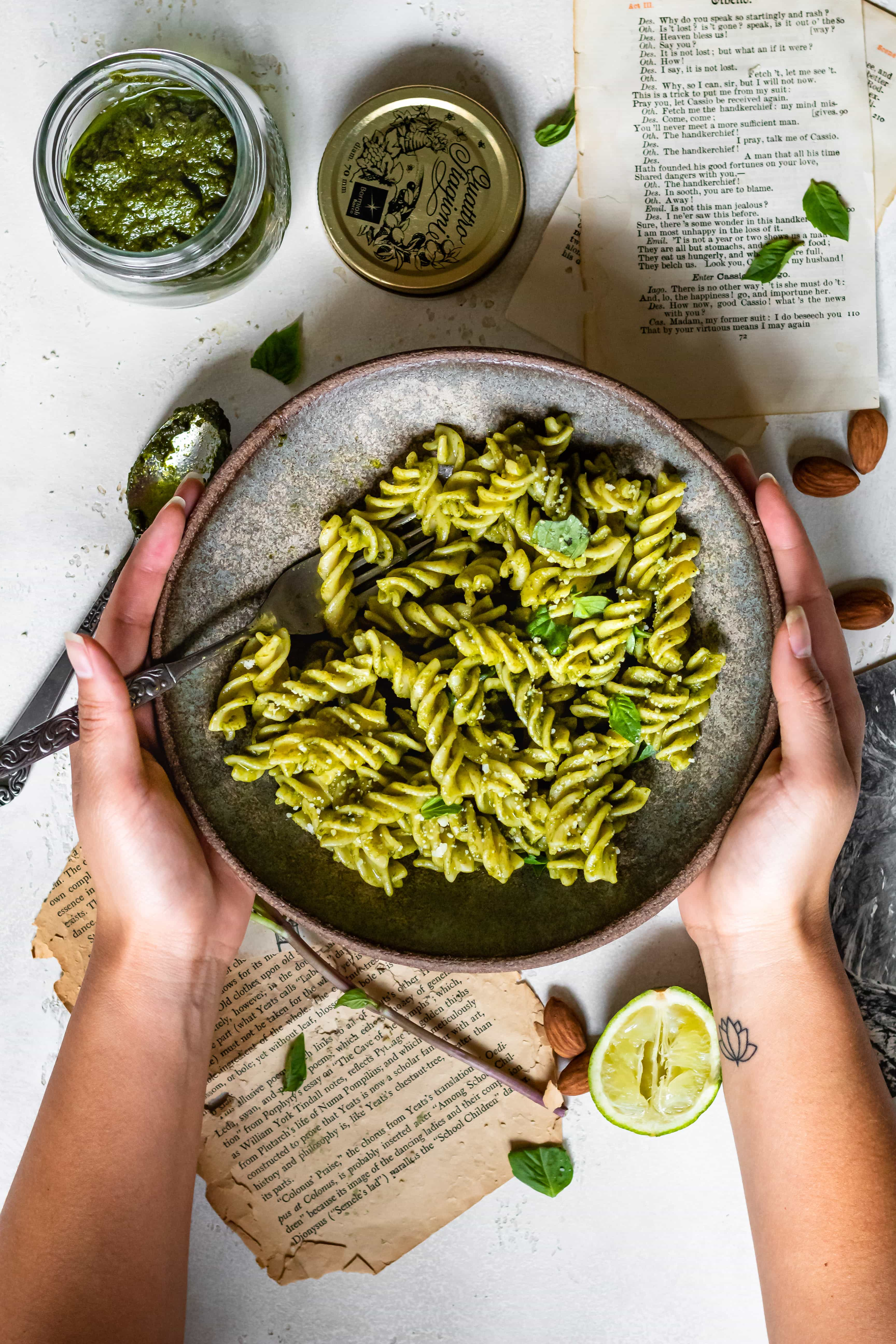 Thai Basil Pesto Pasta