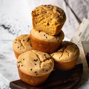 French Roast Coffee Mochi Muffins