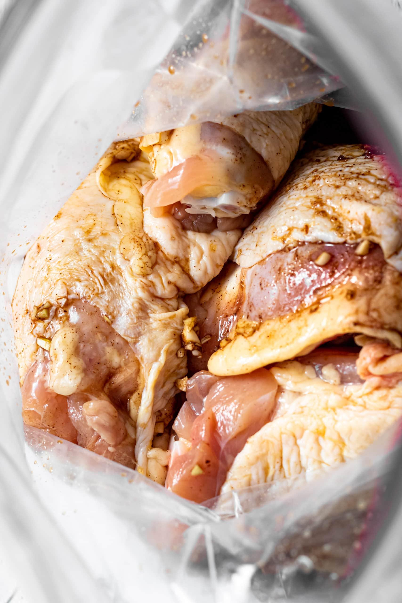 marinading the chicken
