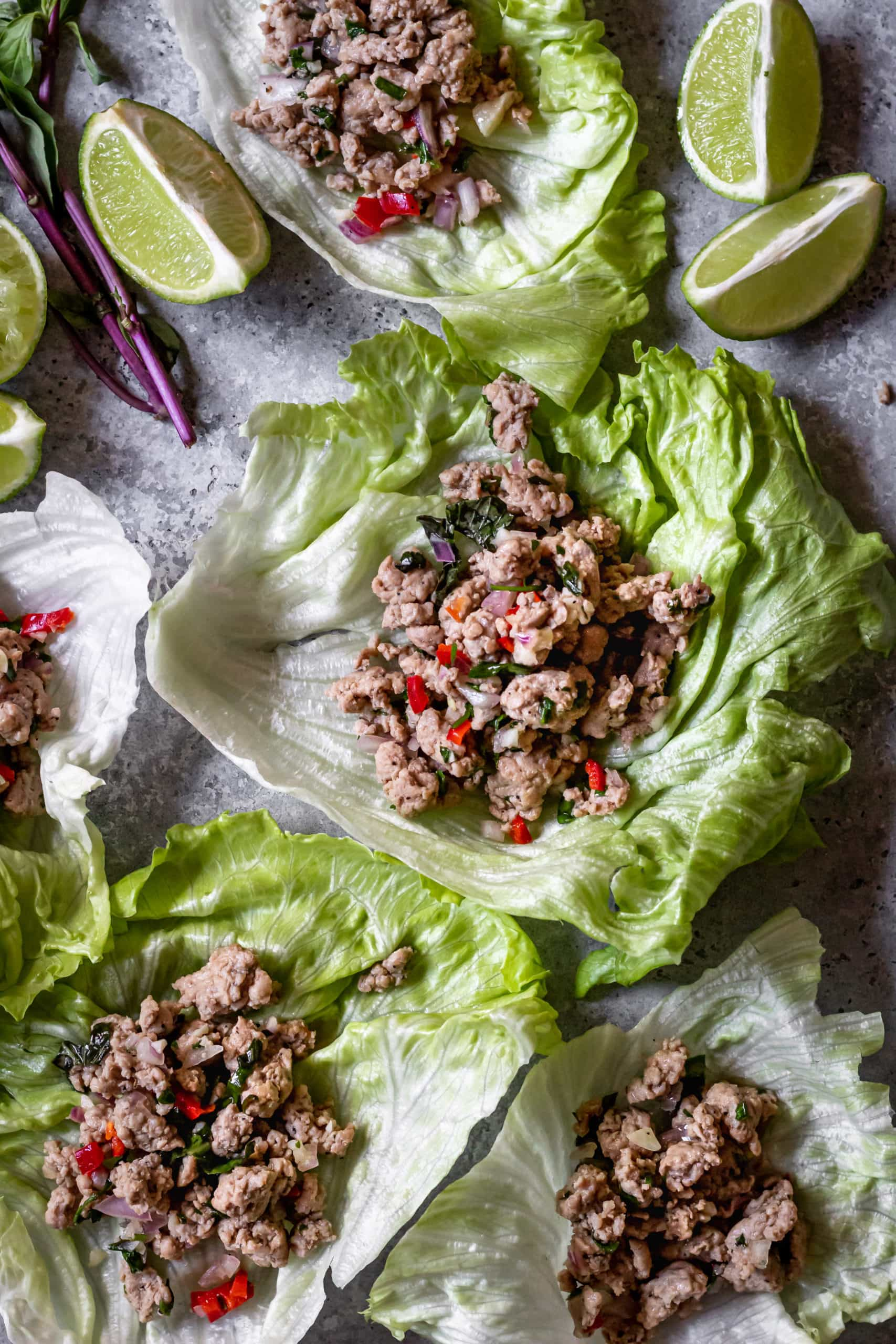 ground pork lettuce wraps