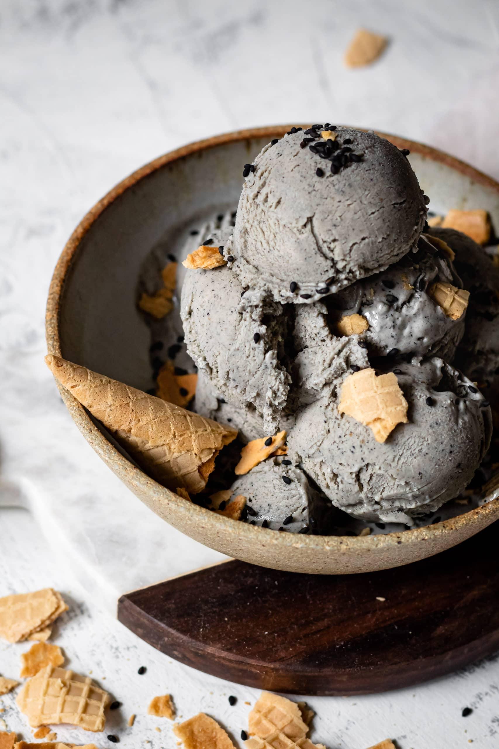 black sesame ice cream