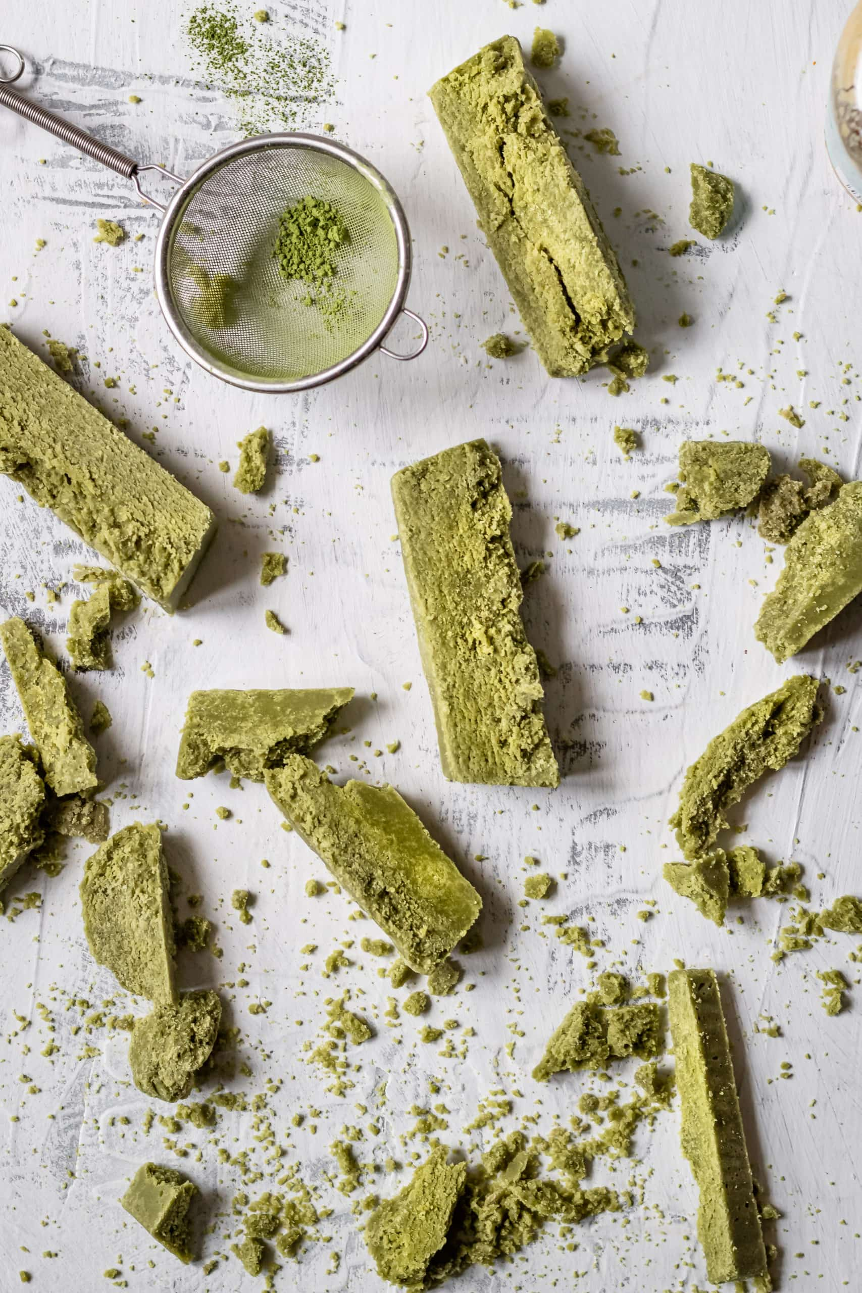 finished matcha halva