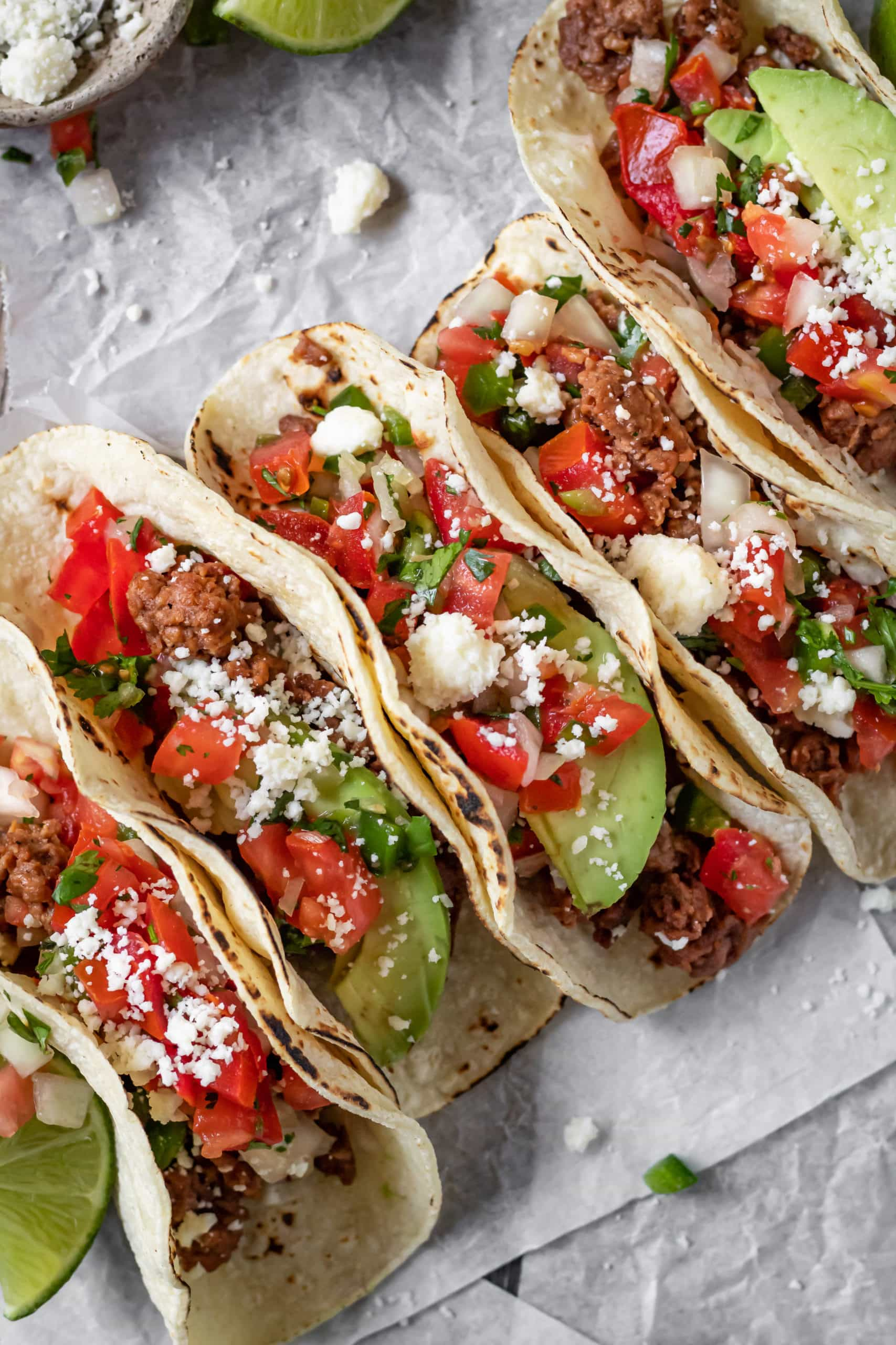 vegetarian ground beef tacos