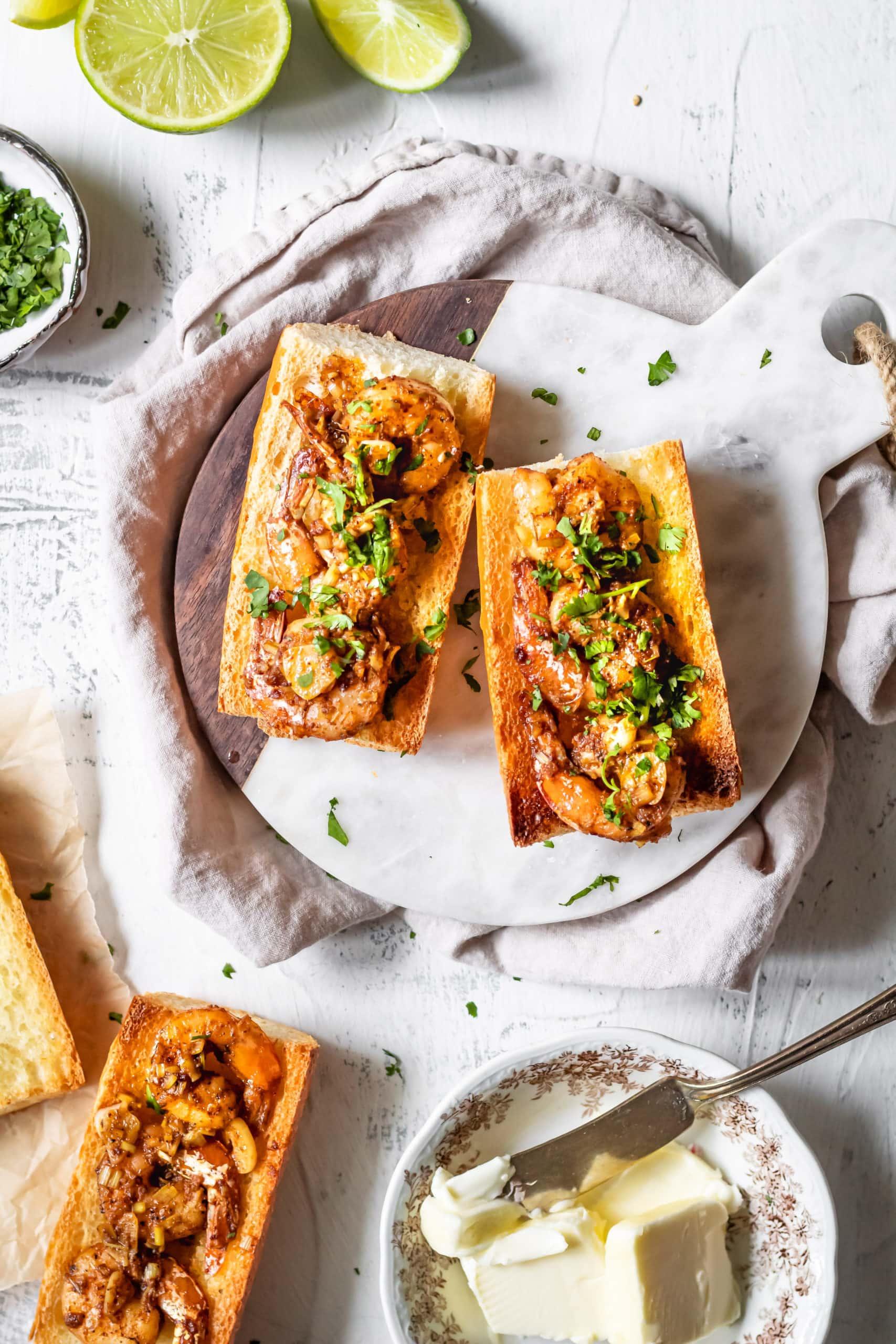 vietnamese cajun shrimp toast