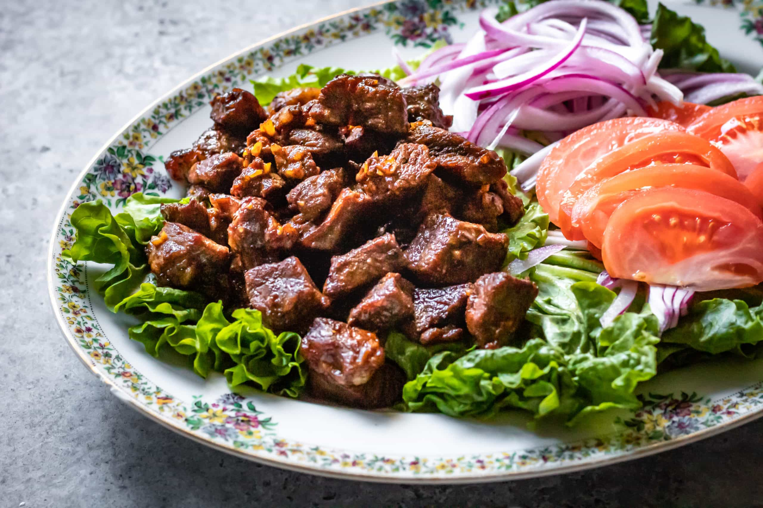 Vietnamese Shaking Beef Bo Luc Lac Cooking Therapy