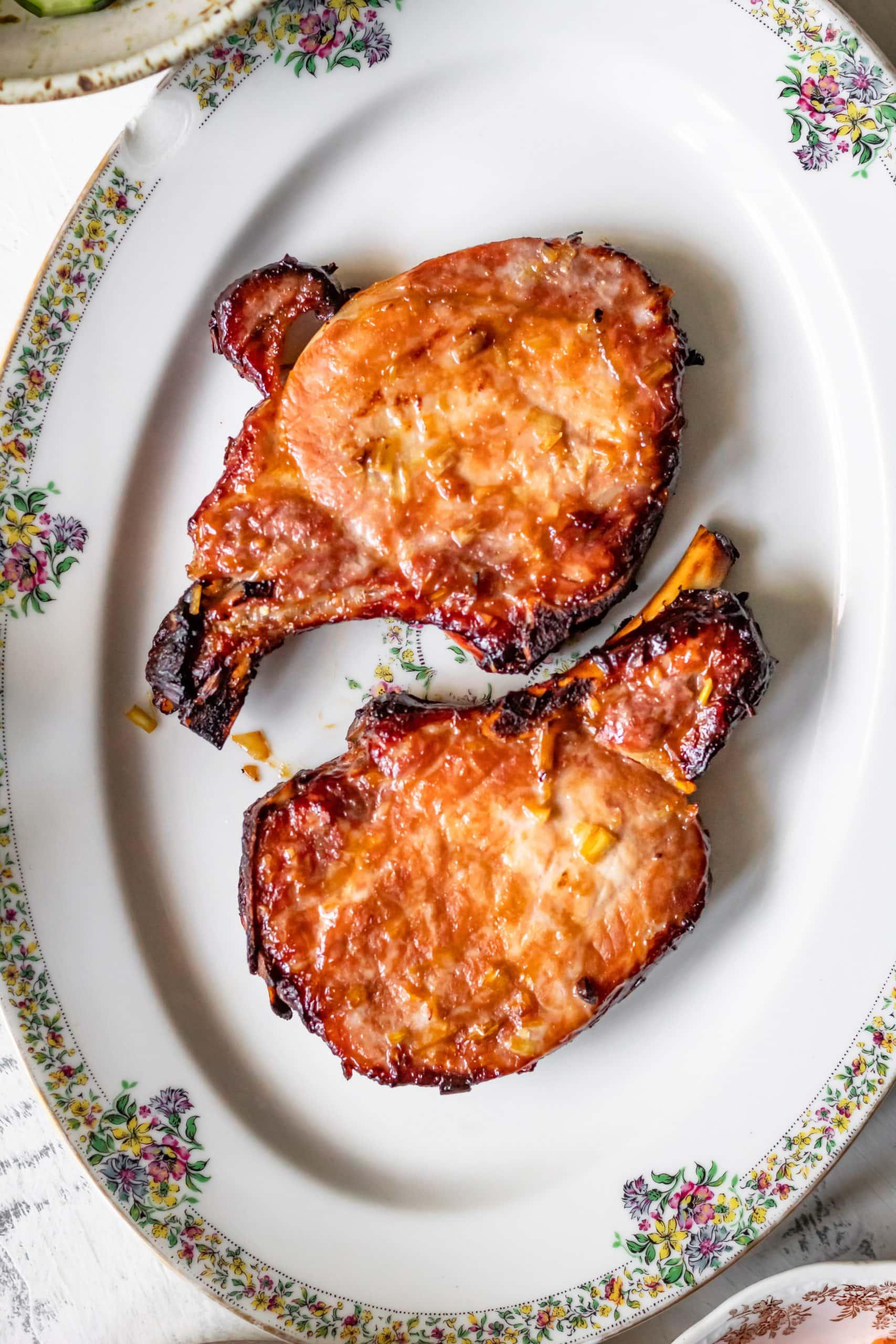 pork chops after baking