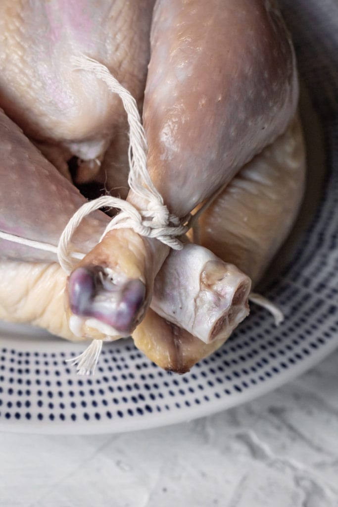 kitchen twine tying chicken