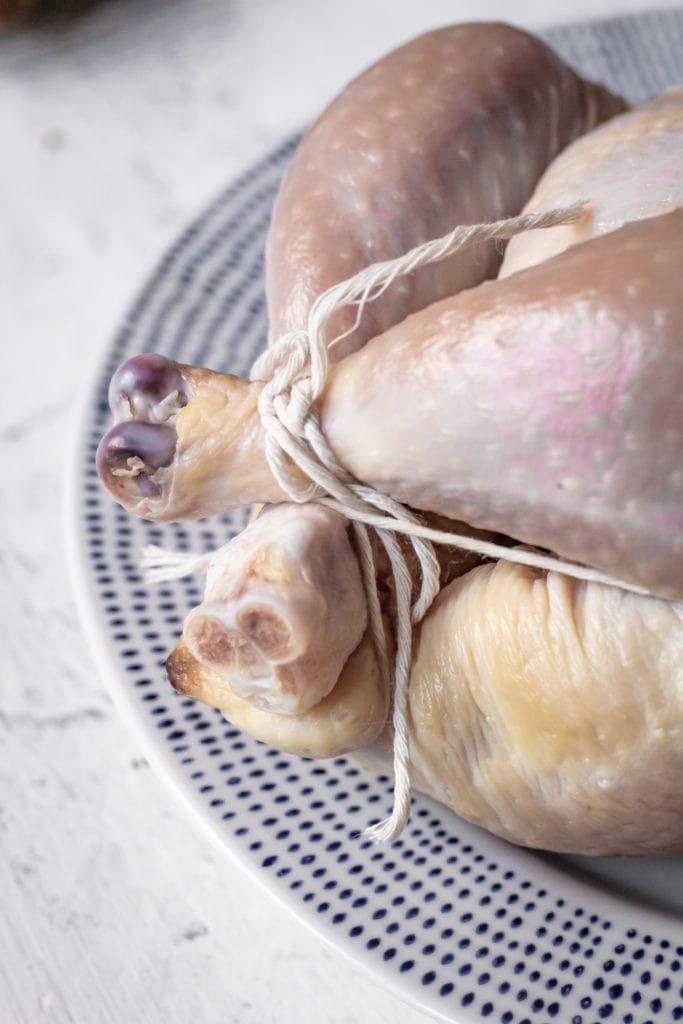 kitchen twine tying chicken