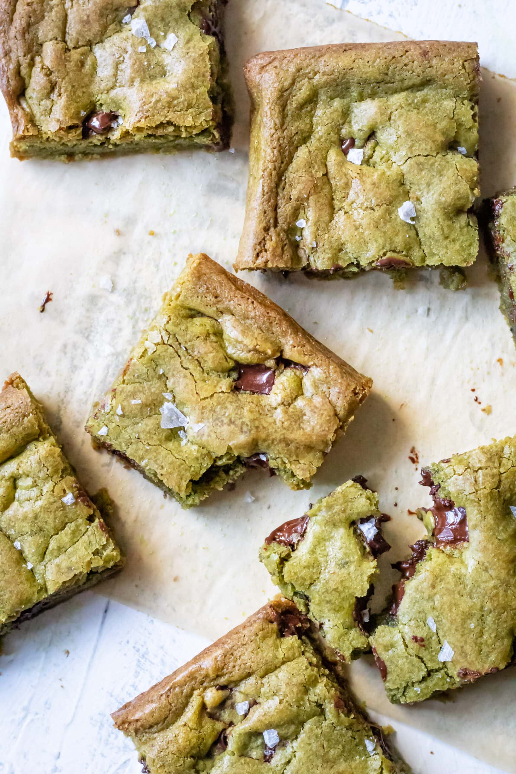 matcha blondies