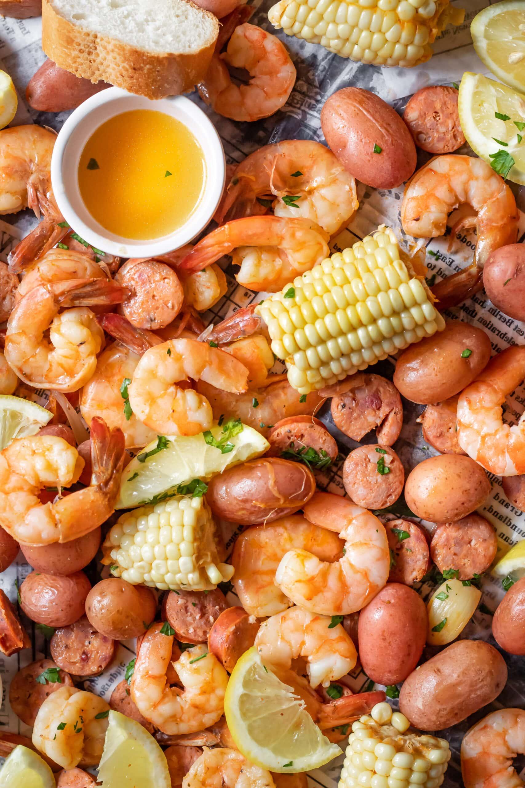 Vietnamese cajun shrimp boil