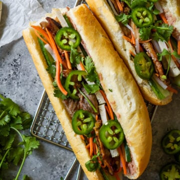 lemongrass pork banh mi