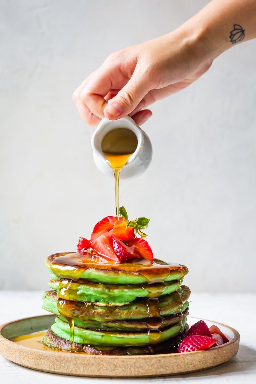 pandan mochi pancakes