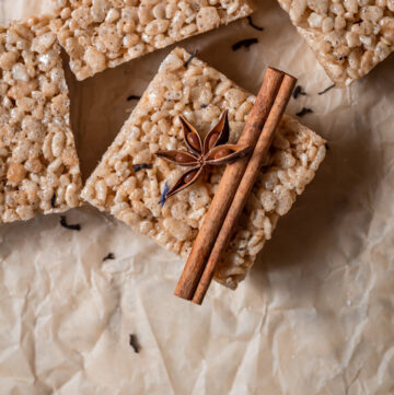 chai spiced rice krispie treats