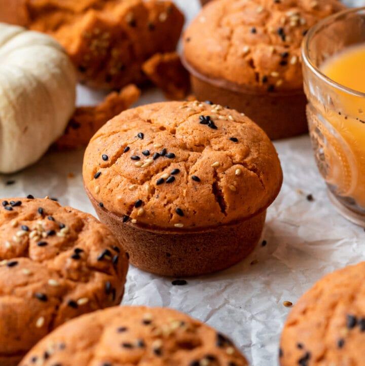 Thai Tea Mochi Muffins