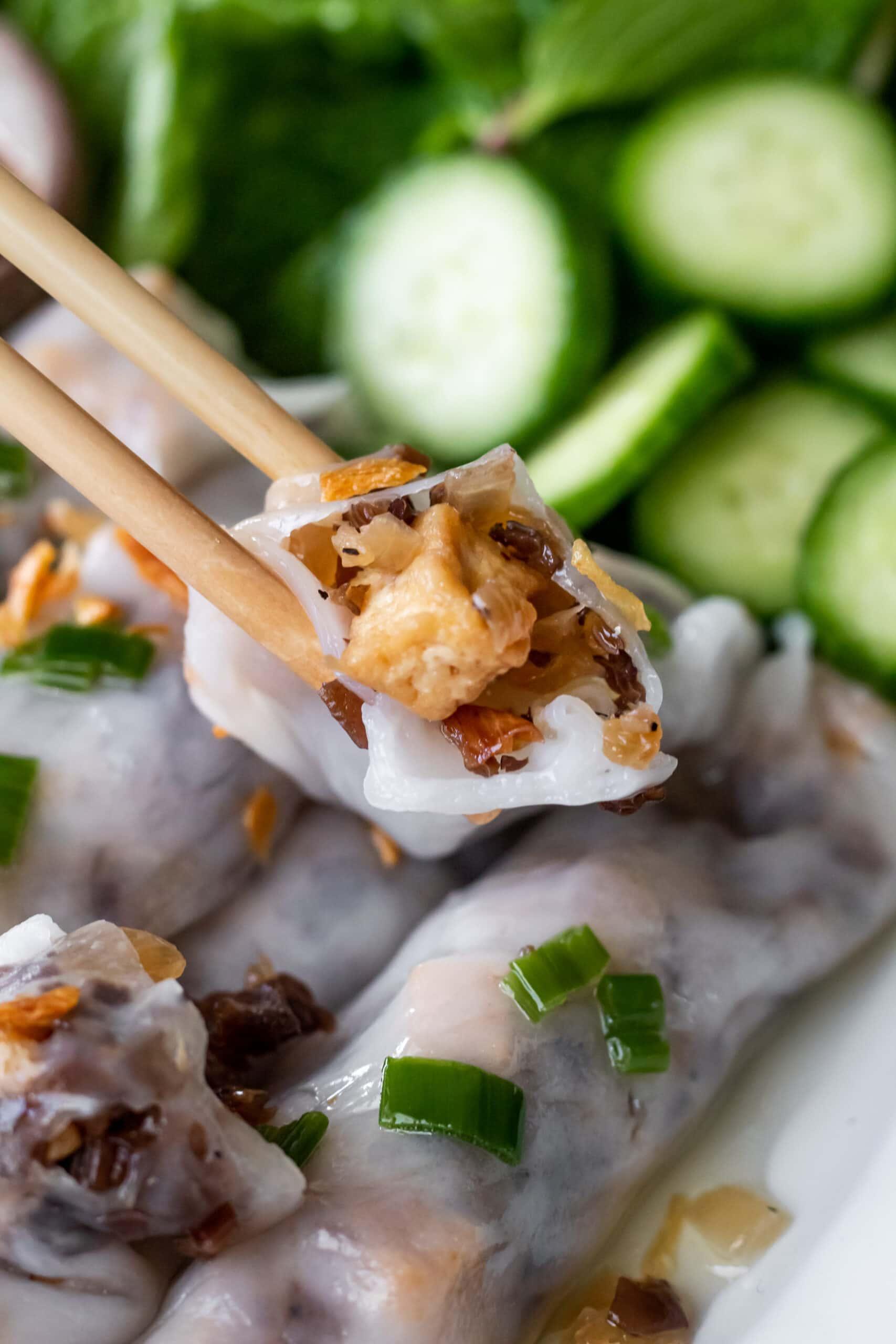 vegetarian banh cuon