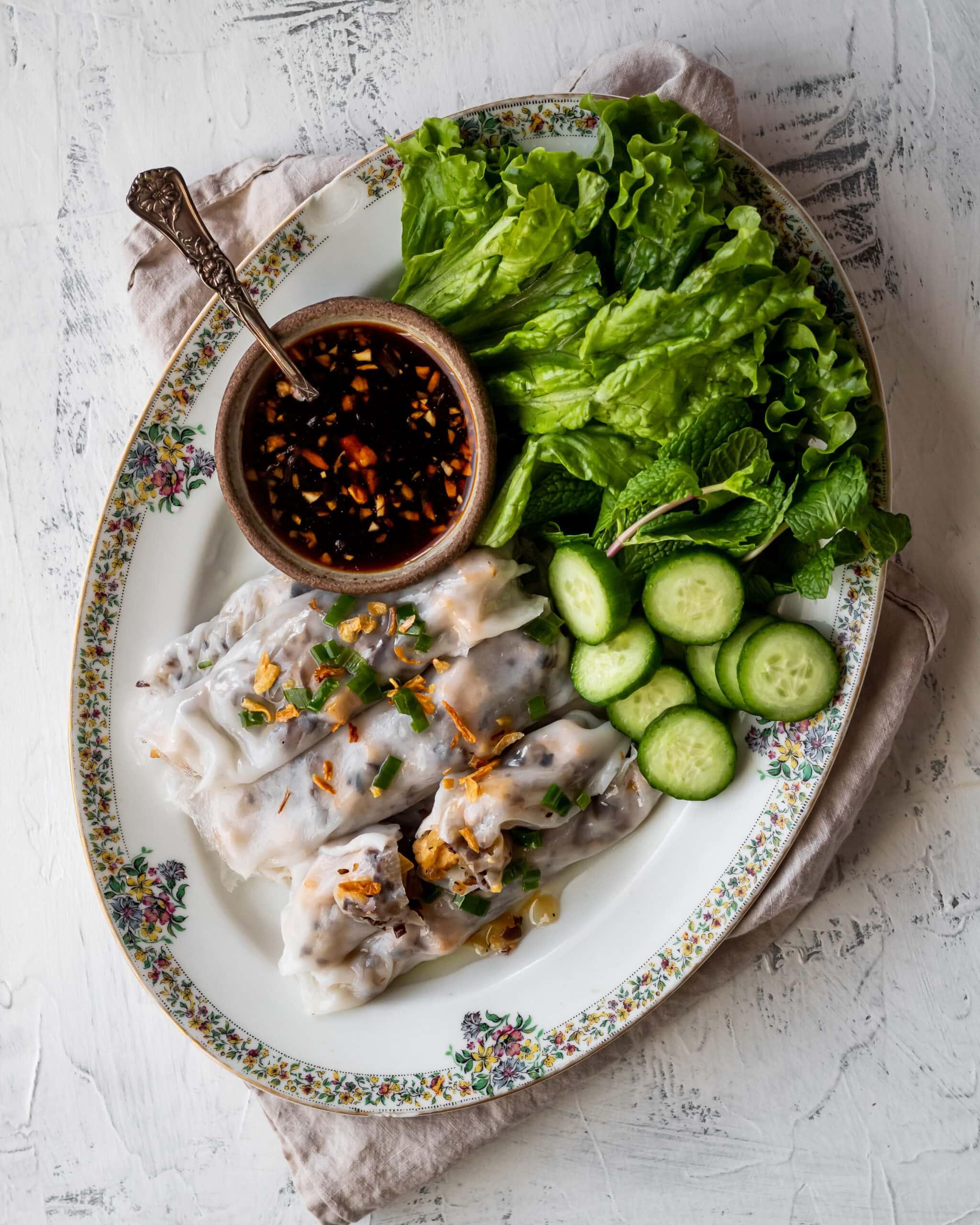 vgetarian banh cuon