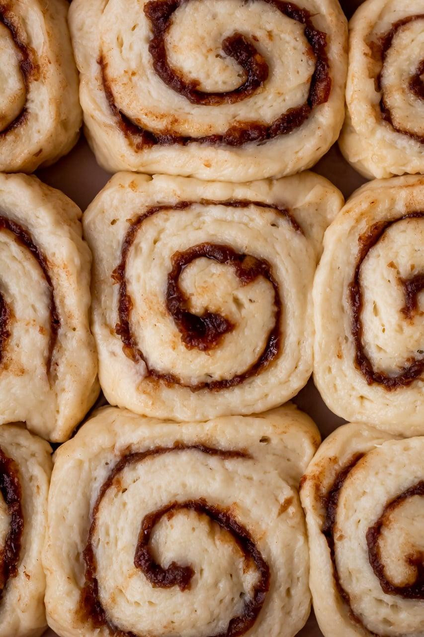proofed sticky buns
