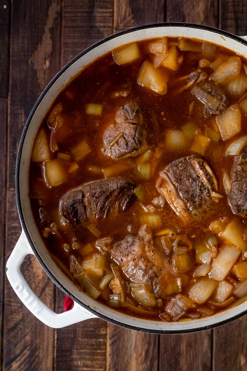 meat before braising