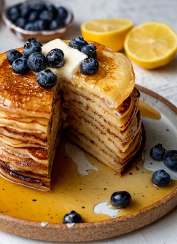 lemon ricotta mochi pancakes