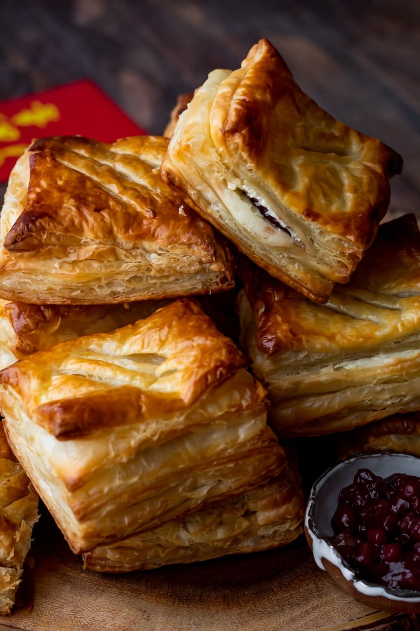 red bean puff pastries