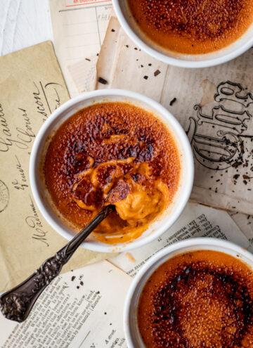 Thai tea creme brulee