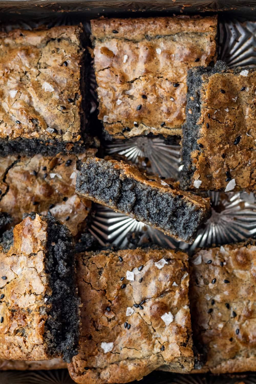 black sesame brownies