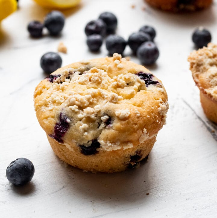 lemon blueberry mochi muffins