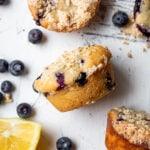 lemon blueberry mochi muffins