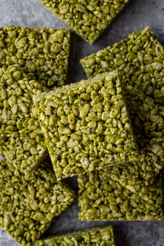 matcha rice krispie treats