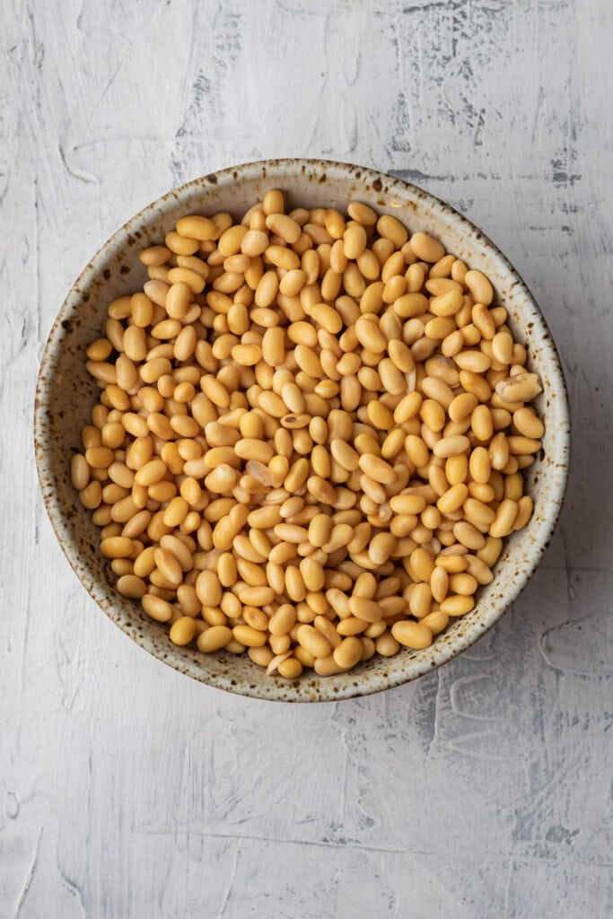 soybeans after soaking