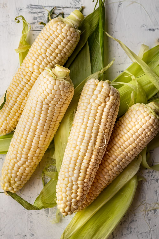 4 ears of corn