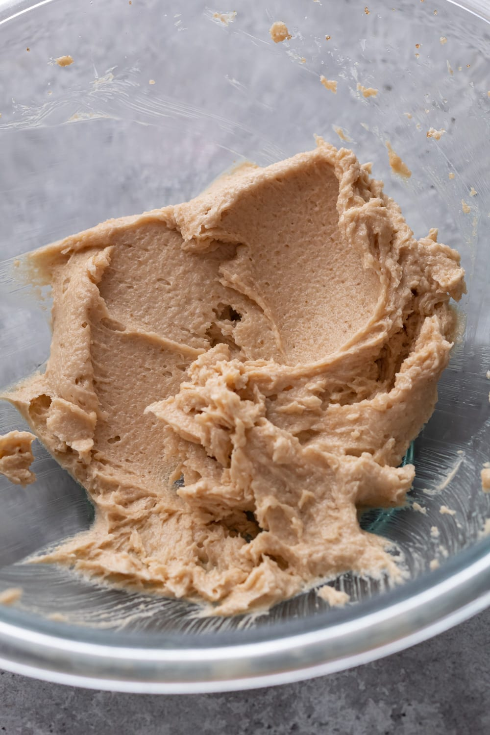 whipped butter with sugar and brown sugar