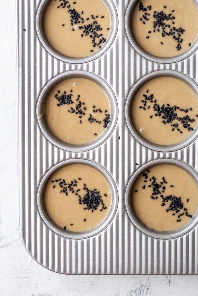 mochi muffins before baking