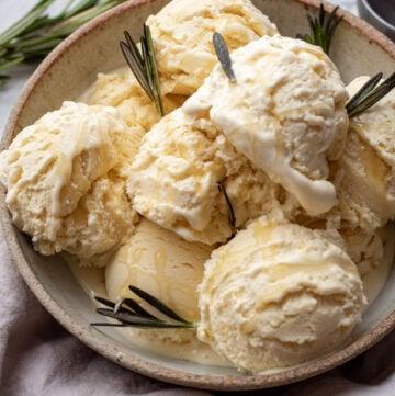 honey rosemary ice cream