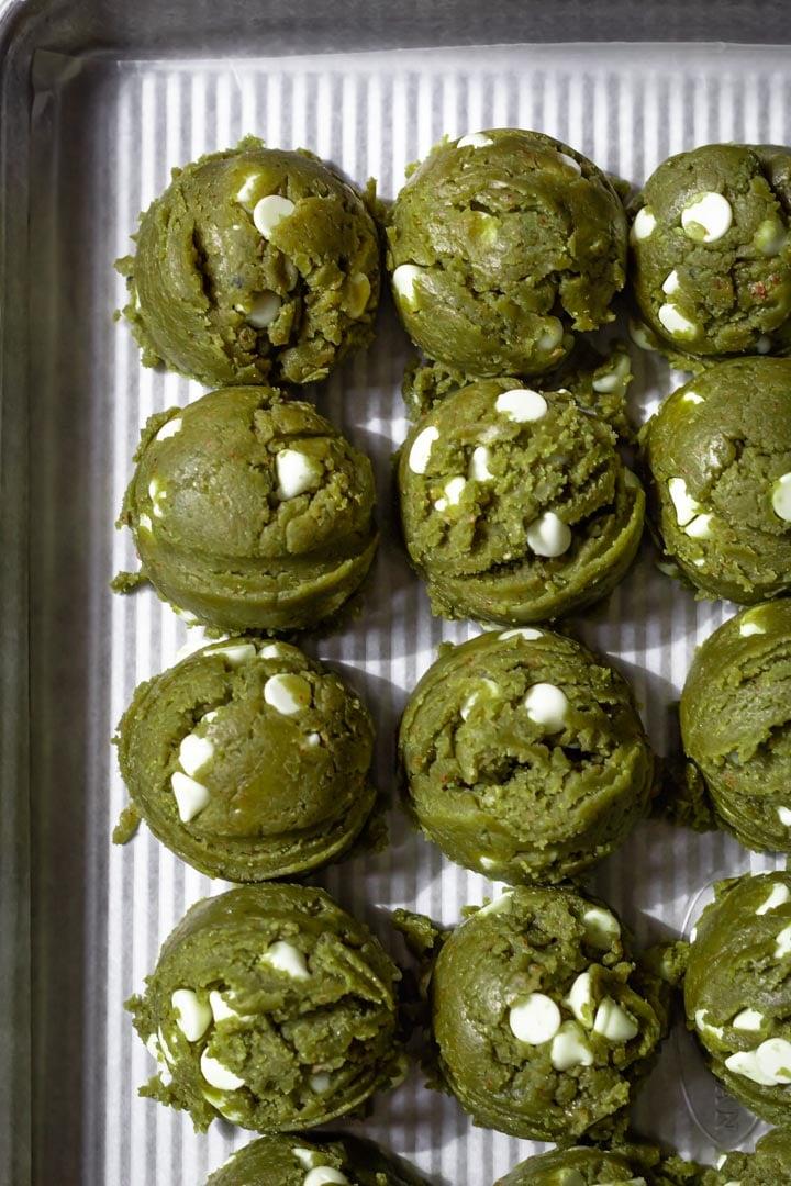 matcha cookie dough