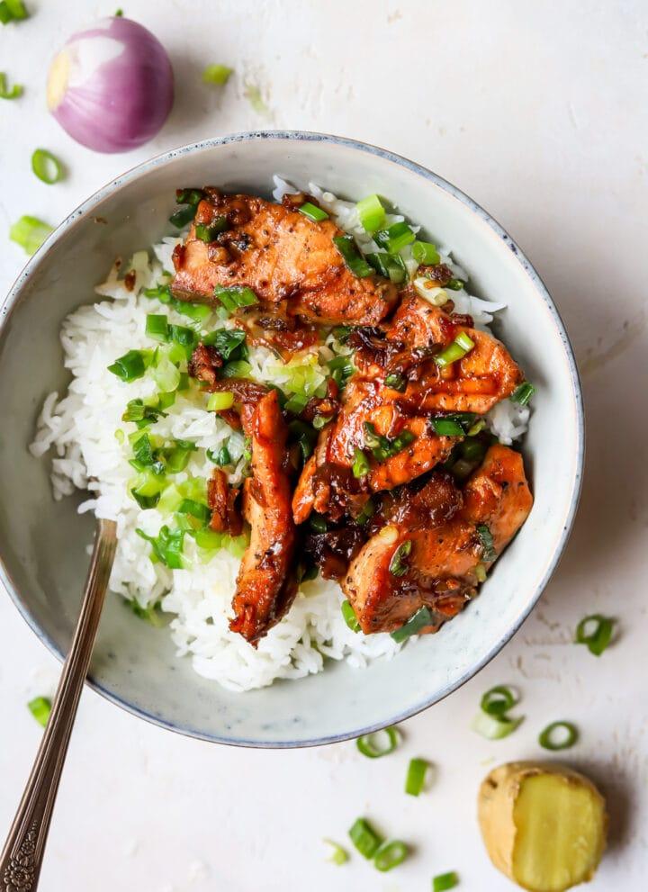 Vietnamese caramelized salmon